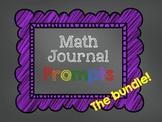 Math Journal Prompts - Seasonal Bundle!