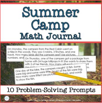 Math Journal Prompts: Summer Camp