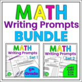 Math Journal Prompts and Constructed Responses BUNDLE