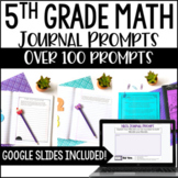 5th Grade Math Journal | Math Writing Prompts - Google Slides™ Distance Learning