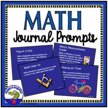 Math Journal Prompts