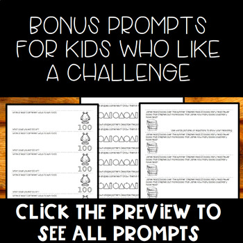 Math Journal Prompts for 1st Grade: 50 Common Core Aligned Prompts
