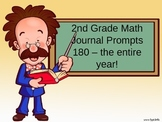 2nd Grade Math Journal Prompts - 180 of them!!!