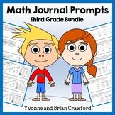 Math Journal Prompts for 3rd Grade Bundle