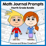 Math Journal Prompts for 4th Grade Bundle