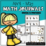 Kindergarten & First Grade Math Journal Prompts for April and May