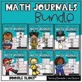 Digital Kindergarten & First Grade Math Journal Prompts Bu
