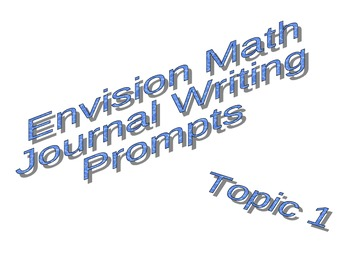Math Journal Prompts for Envision Math