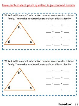 Math Journal Prompts for Envision Math - Topic 3