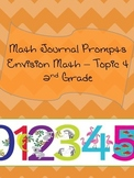 Math Journal Prompts for Envision Math - Topic 4