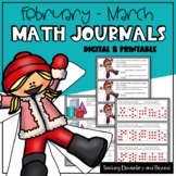 Kindergarten & First Grade Journal Prompts for February and March