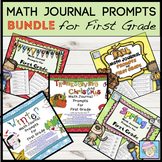 Fall Activities First Grade Math Journal Prompts BUNDLE for ALL YEAR