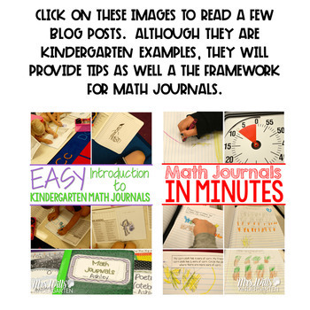 Math Journal Prompts for First-Grade | BUNDLE