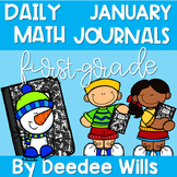 Math Journal Prompts for First-Grade | JANUARY