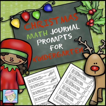 Holiday Math Journal Prompts for Kindergarten Christmas