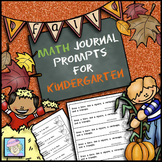 Fall Math Journal Prompts for Kindergarten