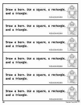 Fall Math Journal Prompts for Kindergarten