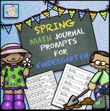 Kindergarten Math Journal Prompts Spring | Math Journal Prompts Kindergarten