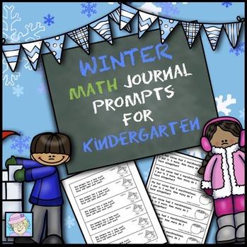 Kindergarten Math Journal Prompts for Winter