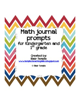 Math Journal Prompts for Kindergarten and First Grade