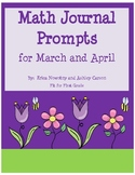 Math Journal Prompts for March and April