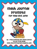 Math Journal Prompts for May and June