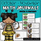 Digital Math Journal Prompts for October & November (Googl