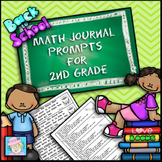 Back to School Math Activities Journal Prompts 2nd Grade