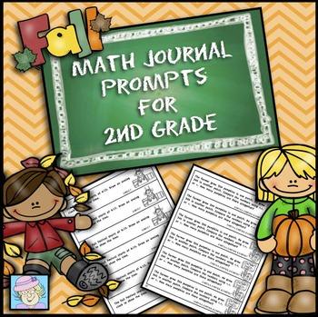 Fall Math Journal Prompts 2nd Grade | Math Journal Prompts 2nd Grade