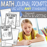Math Journal Prompts - Writing About Math - Distance Learning