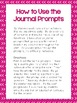 Math Journal Prompts {for the year}