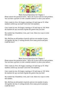 Math Journal Questions - Full year
