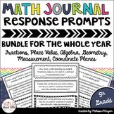 Math Journal Prompt BUNDLE 5th Grade