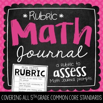 Math Journal Rubric {FREEBIE}