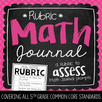 Math Journal Rubric {FREEBIE}