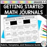 Math Journals Resource Guide | Math Journal Rubric and Math Journal Templates