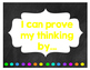 Math Journal Sentence Starter Posters Chalkboard Theme