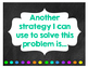 Math Journal Sentence Starter Posters Chalkboard Theme