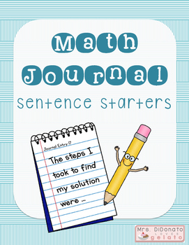 Math Journal Sentence Starters