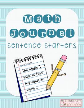 Math Journal Sentence Starters