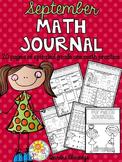 Math Journal September (Common Core Aligned)