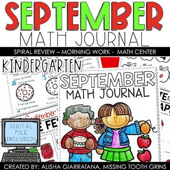 Math Journal September (Kindergarten)
