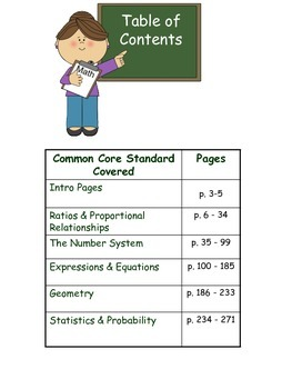Math Journal - Sixth Grade Math Journal Prompts Aligned to Common Core