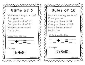 Math Journal Task Cards