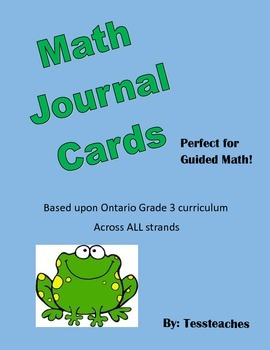 Math Journal Task cards