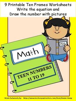 Printable Teen Number Math Worksheets