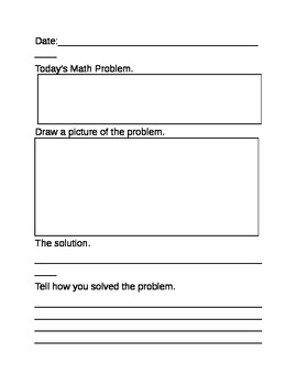 Math journal template by jamie martin teachers pay teachers for Teacher diary template
