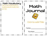 Math Journal Template- Editable