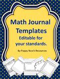 Math Journal Templates (editable)