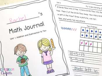 Math Journal Unit 5: Shapes and Fractions